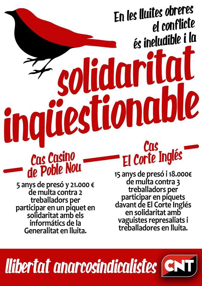 El conflicte és ineludible; la solidaritat, inqüestionable