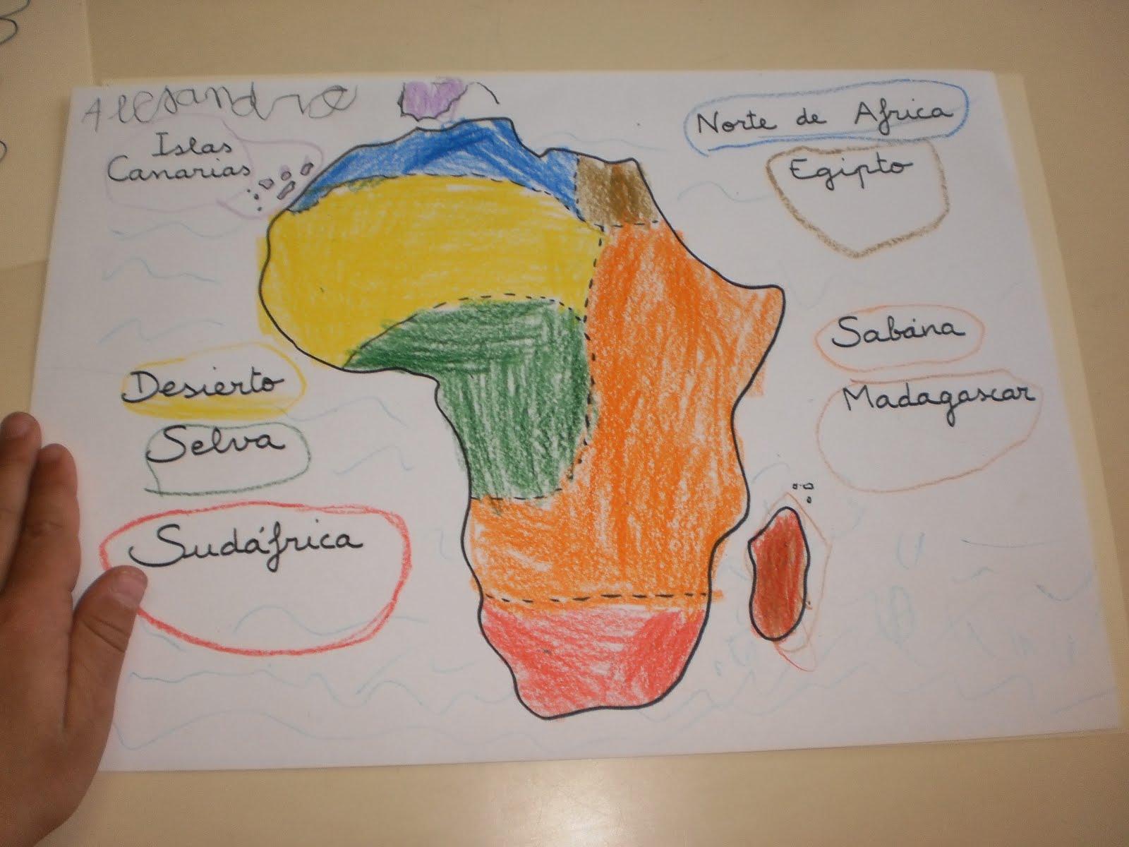 EL LAPIZ Africa Mapa Multicolor