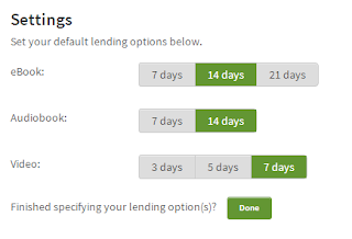 downloadLibrary default loan periods screenshot