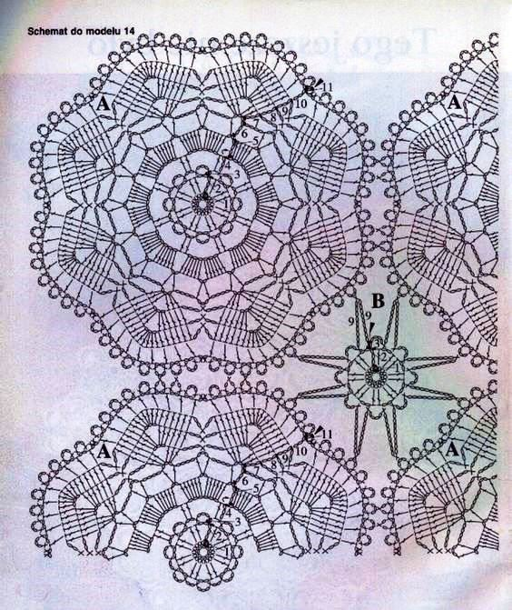 Patterns And Motifs Crocheted Motif No 1609