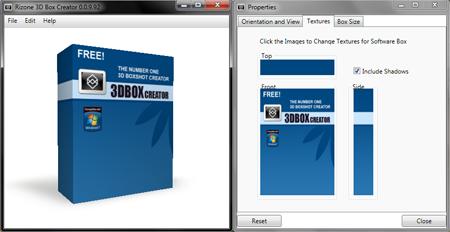 Free eCover Software | Rizone 3D Box Creator