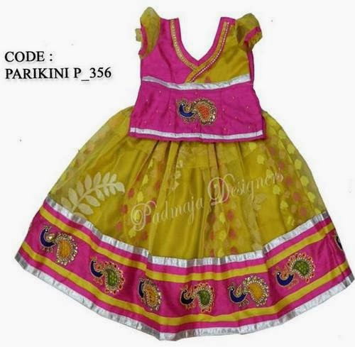 Khaki Color Kids Lehenga