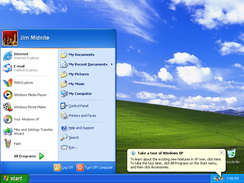 Windows home xp sp2