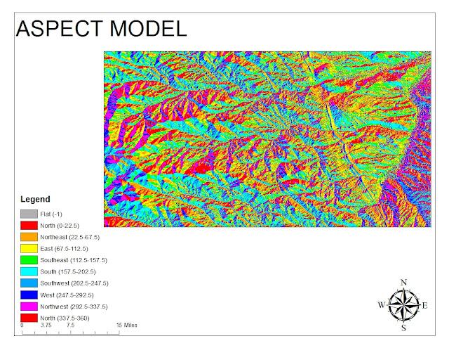 Gis fall 2012 dem digital elevation model for Aspect landscape