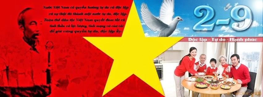 Hình ảnh bìa Facebook cho ngày 2/9/2014 đẹp nhất