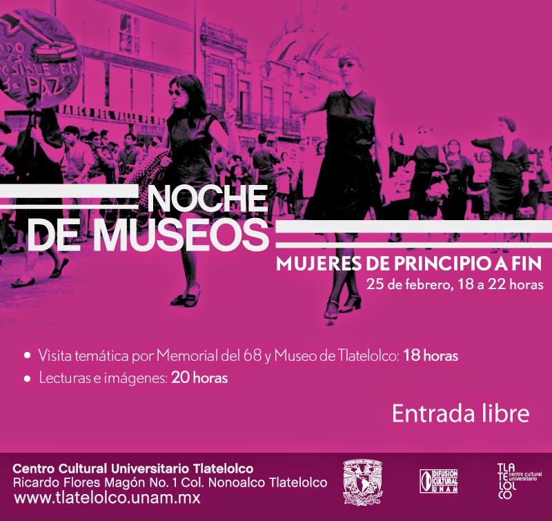 Noche de Museos en el CCU Tlatelolco sobre el rol de la mujer en la historia