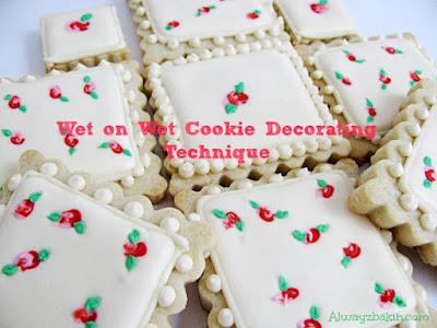 Wet on Wet Cookie Decorating Technique