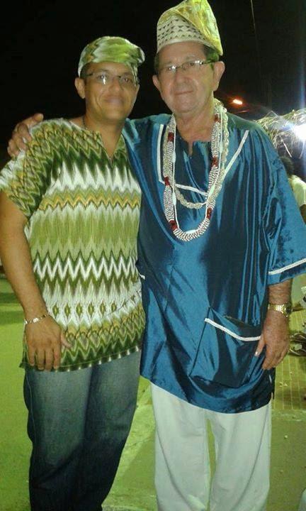 Babalorixá Melquisedec C. Rocha (Melquisedec de Xangó) e Mariano de Xango