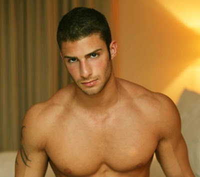 Strong Man: Handsome Muscular Man - Adam A, American Model