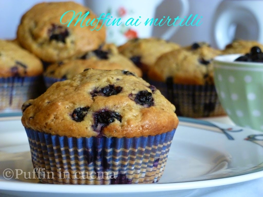 muffin ai mirtilli con farina integrale e zenzero...facciamo colazione?