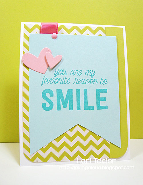 My Favorite Reason to Smile card-designed by Lori Tecler/Inking Aloud-stamps from My Favorite Things