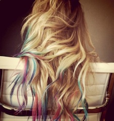 lauren conrad rainbow colour hair dip dye 1 Fall hair trends 2012