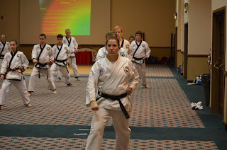 Martial Arts girl doing kids taekwondo martial arts