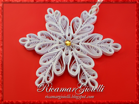 Fiocco di neve in quilling