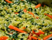 Arroz com Espinafre e Cenoura (vegana)