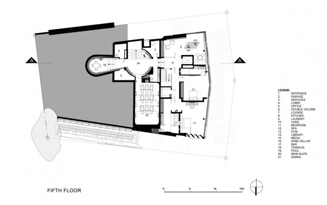Illustration of the fifth floor
