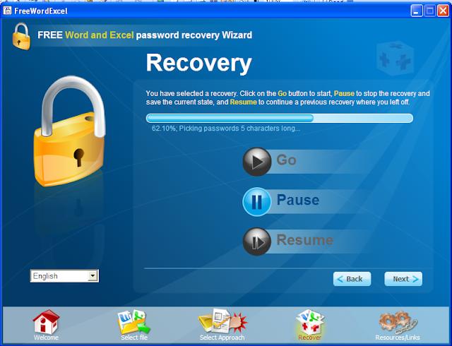 khôi phục mật khẩu word và excel 7