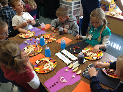 Healthy Halloween Snack activity for class parties