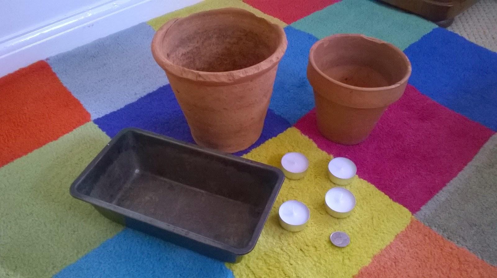 Clay Flower Pot Heater