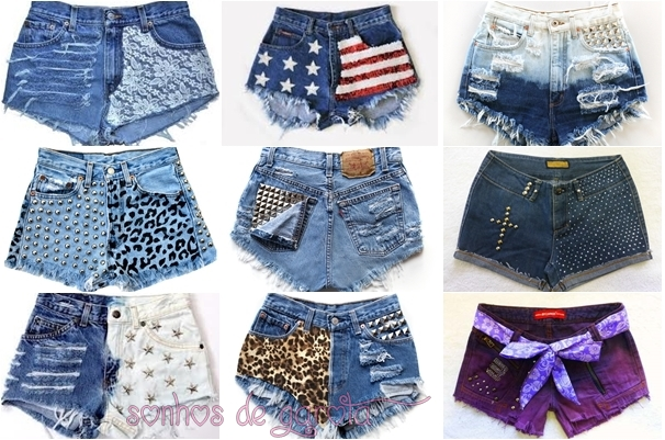 6edfb72773805 Ultimamente eu tenho visto muitas meninas usando shorts customizados por  elas mesma
