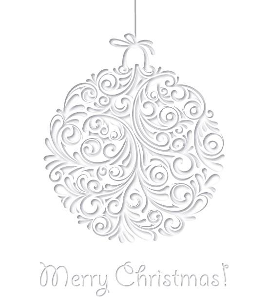 Bola de Navidad de papel calado