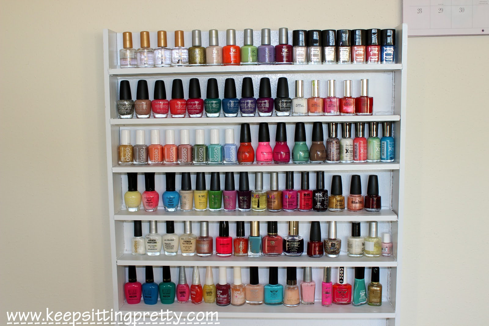 DIY Nail Polish Rack Idea