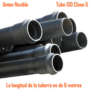 Tubo iso clase 5 uni n flexible materiales de construccion for Tubo de pvc flexible