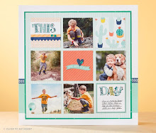July Stamp of the Month Layout