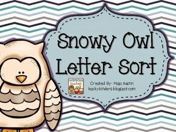 http://www.teacherspayteachers.com/Product/Snowy-Owl-Letter-Sort-1619017