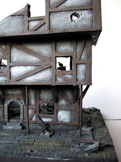 Makieta ruin budynku miasta Mordheim