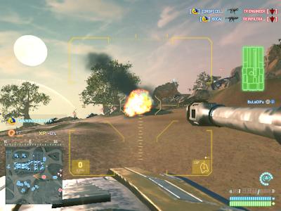 PlanetSide 2 - Piloting a Tank