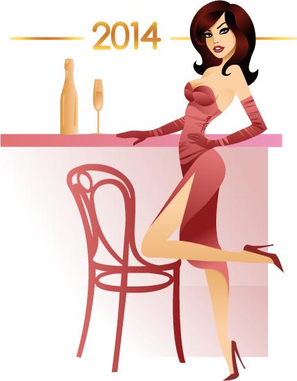 Fiesta Año Nuevo 2014 - Vectorial