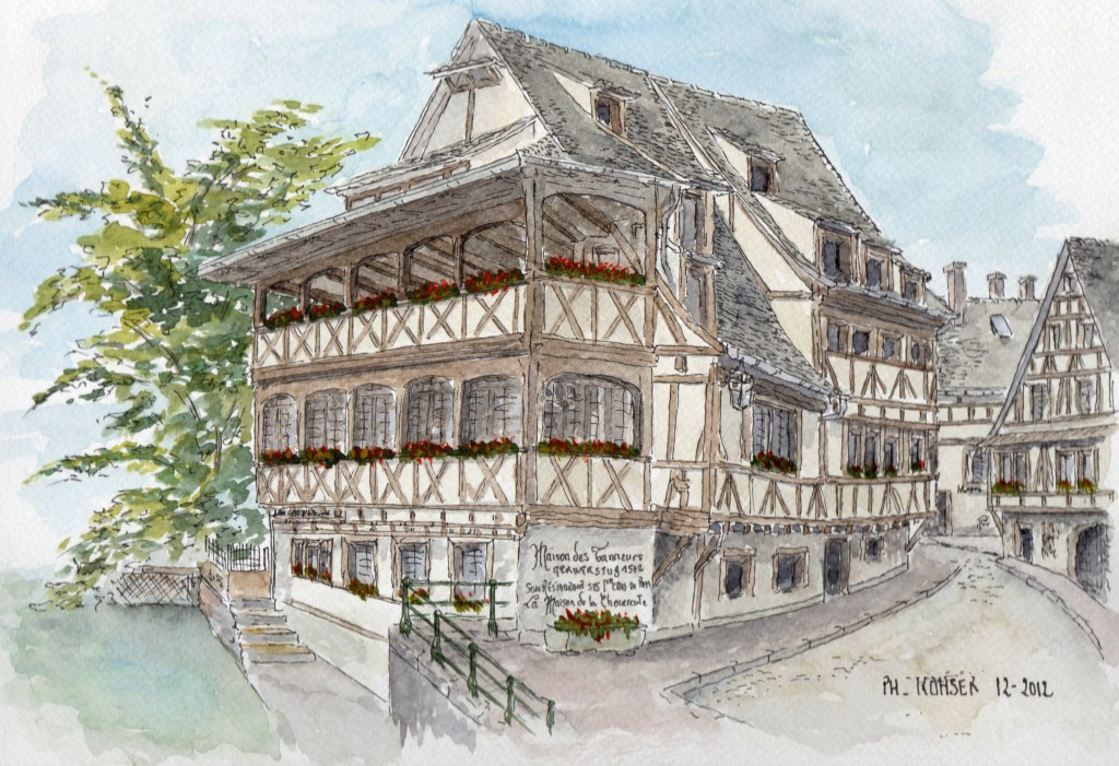 Akvarelo ou l 39 apprenti aquarelliste alsace for Maison de l emploi strasbourg