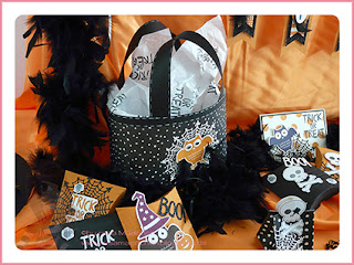Stampin' Up Rosa Mädchen Kulmbach Teamtreffen Jenni Pauli Helga Hopen Halloween Totentkopf Eule Tasche Spinnennetz