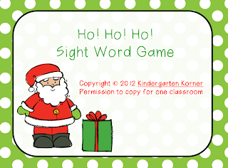 http://www.teacherspayteachers.com/Product/Ho-Ho-Ho-Game-for-Sight-Words-427150