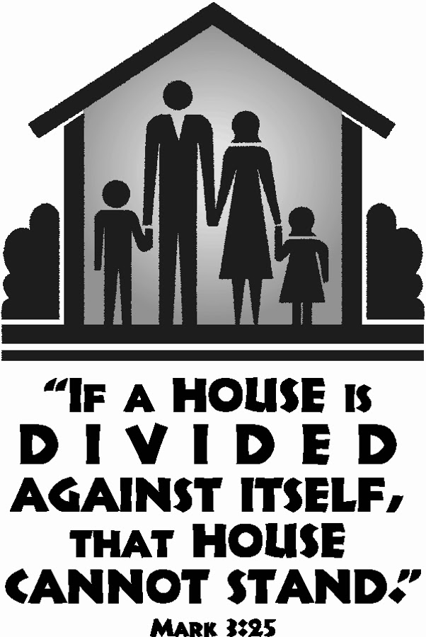 a house divided against itself cannot A house divided against itself cannot stand i believe this government cannot endure, permanently half slave and half free  i do not expect the union to be dissolved - i do not expect the house to fall - but i do expect it will cease to be divided.