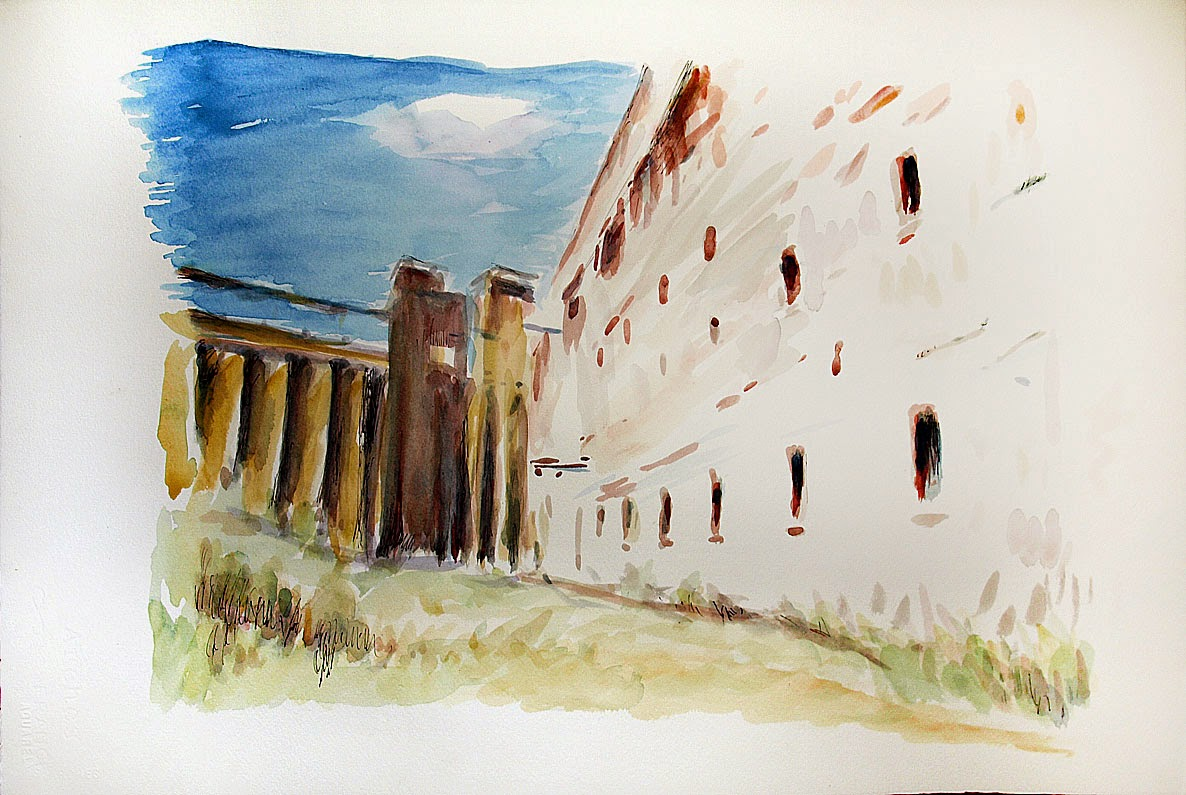 Grain Elevators, Buffalo NY, Silo City, Grain Mills, Watercolor painting, Patrick Willett, Ink drawing, Albright Knox, Burchfield Penney