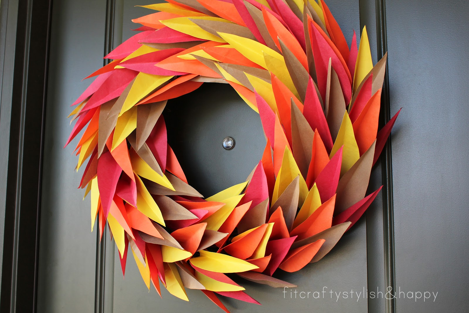 fit crafty stylish and happy fall wreath