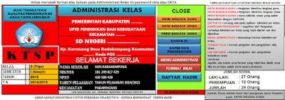 Administrasi Kelas KTSP SD
