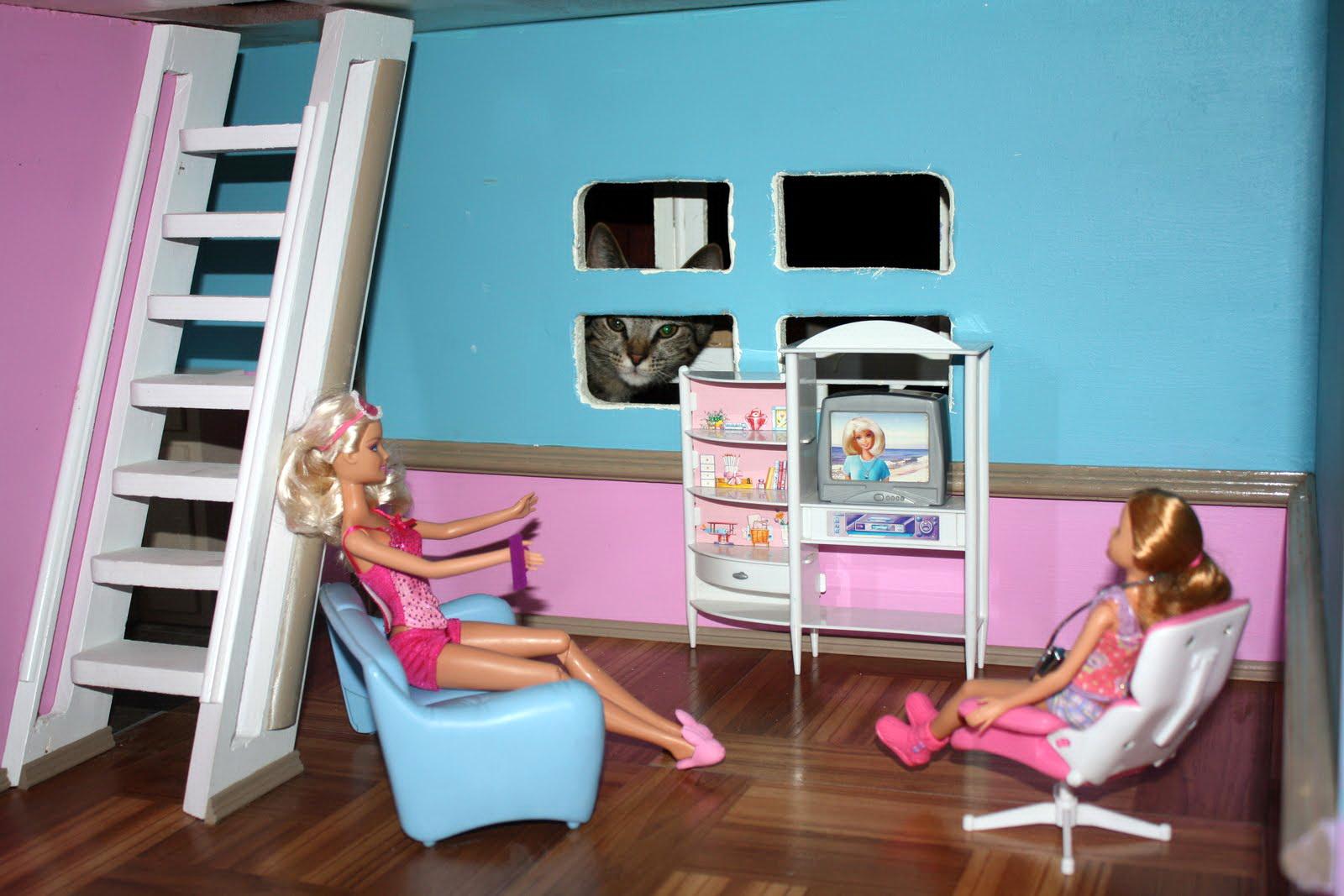 Как сделать для куклы барби дом с мебелью своими руками