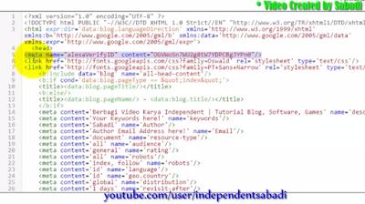 Cara Daftar Dan Verifikasi Alexa Rank Di Blog
