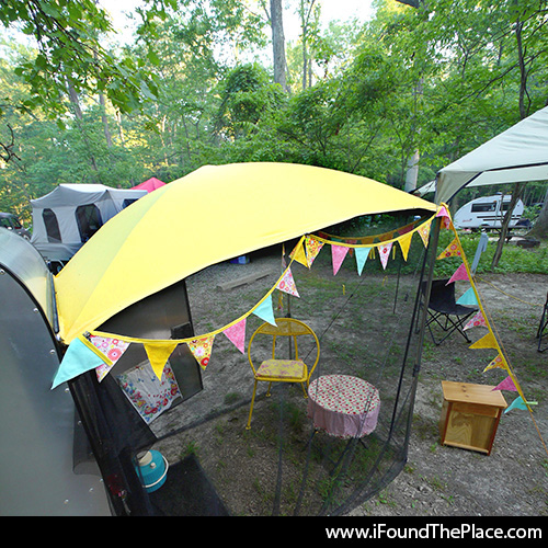 I Found The Place (Formerly The Flirty Blog) How to sew a DIY trailer awning & I Found The Place (Formerly The Flirty Blog): How to sew a DIY ...