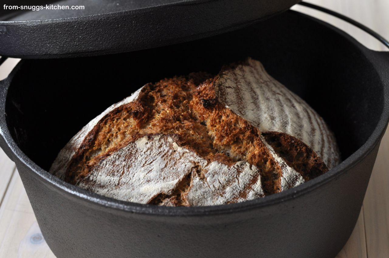 No Knead Brot mit gerösteten Körnern & Saaten
