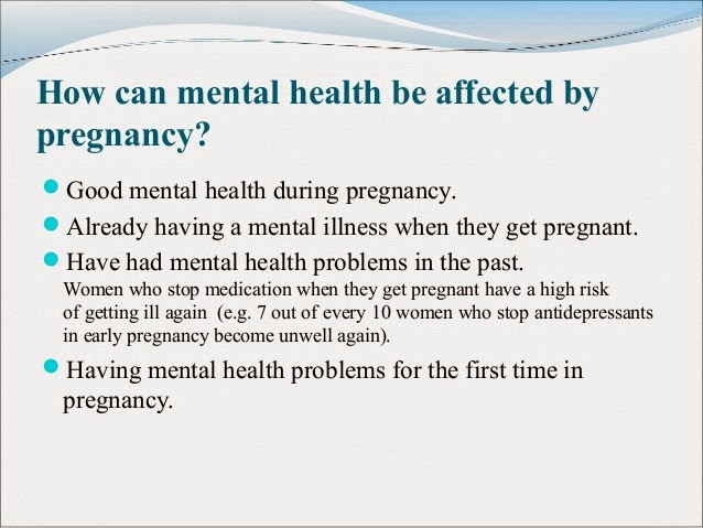 Pregnancy and Mental Health Issues