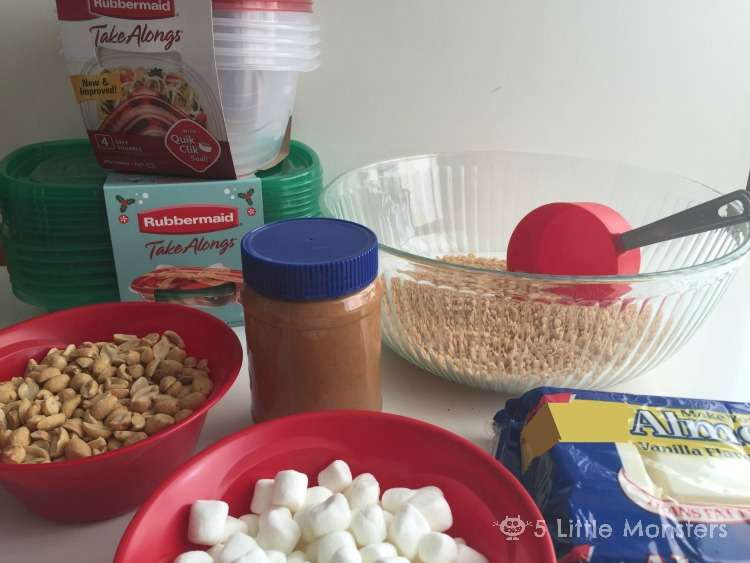 ingredients for Almond Bark Candy
