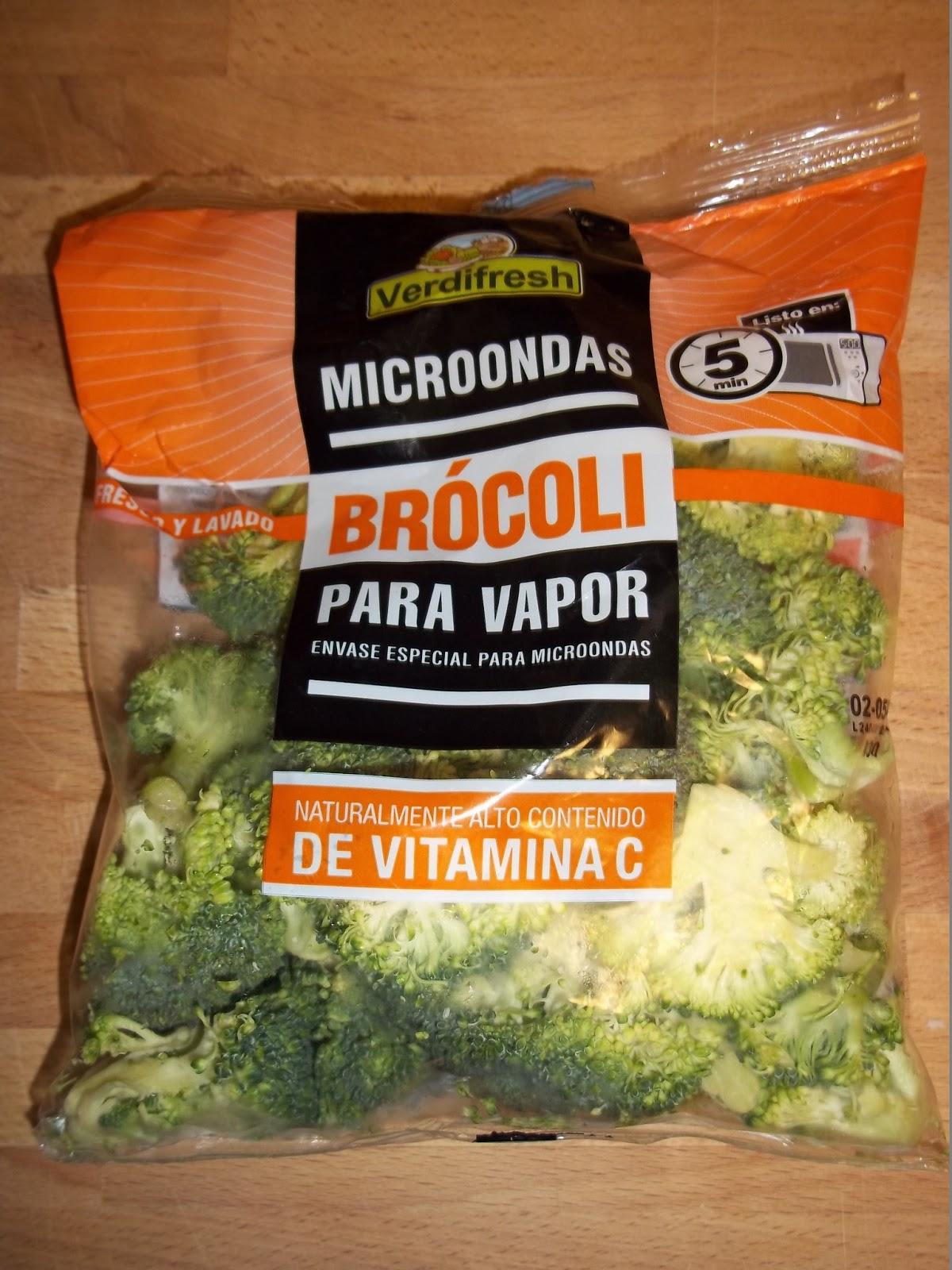 Cenas fulleras 6 salm n encostrado con br coli al vapor - Como cocinar al vapor en microondas ...