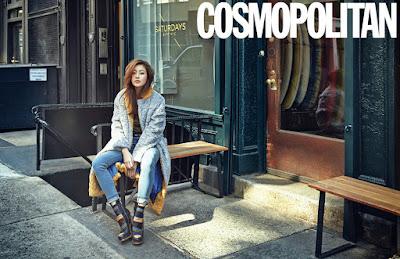 Kang Sora - Cosmopolitan Magazine October Issue 2015