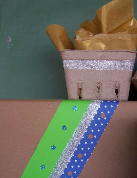 A little glitter and a hole punch can do wonders.