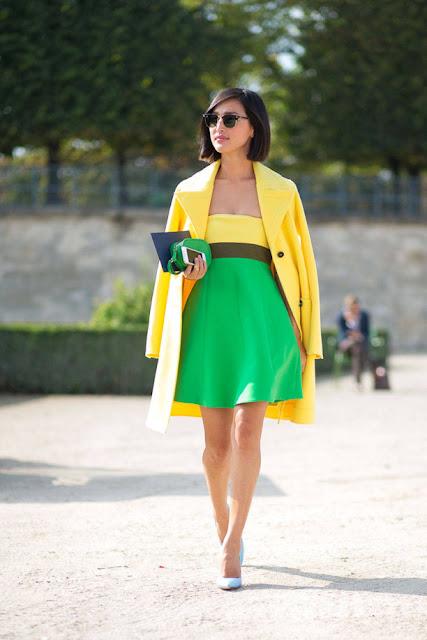 amarelo com verde