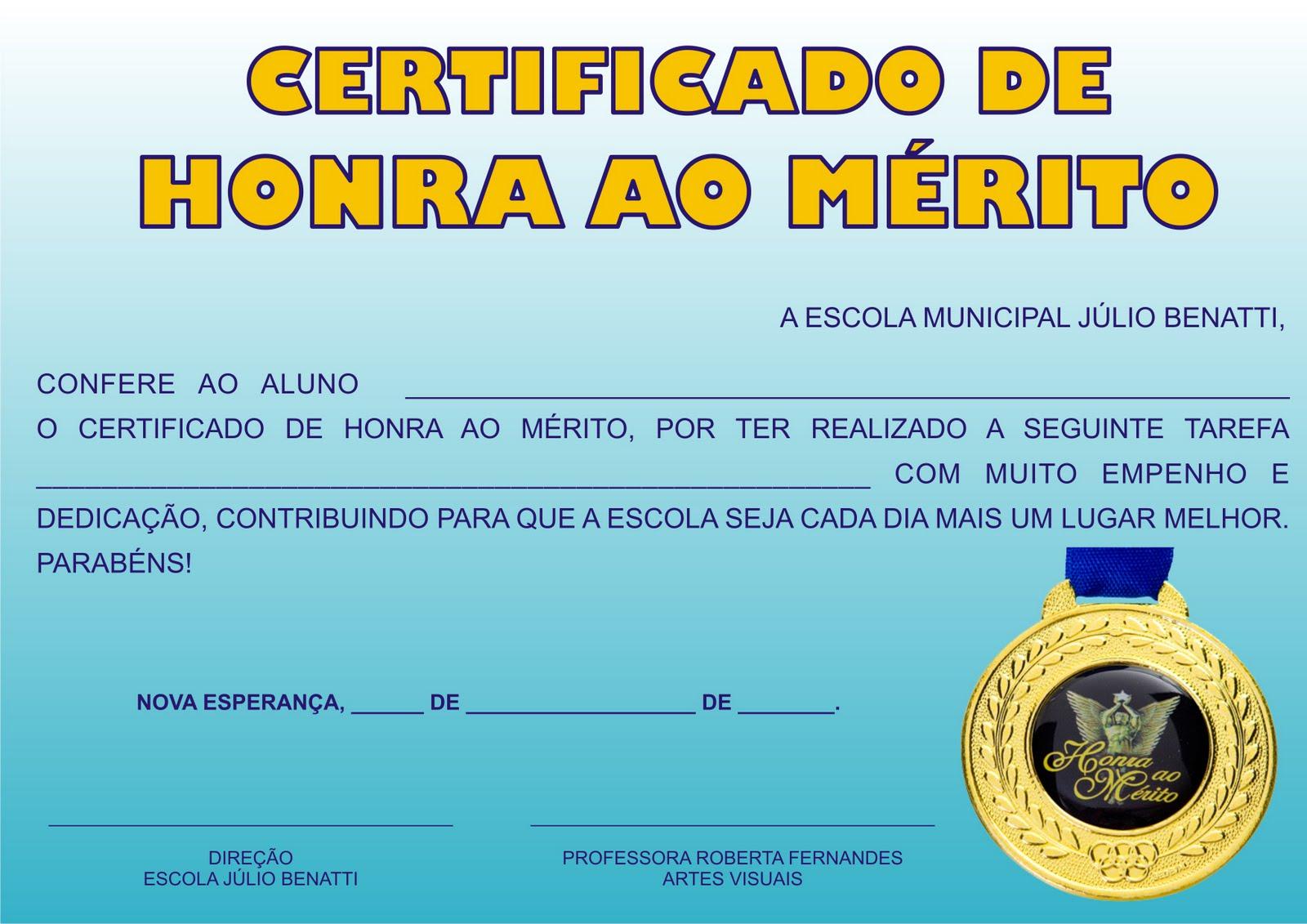 Certificado De Aluno Criativo  Post Reformulado
